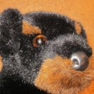 Douglas the Cuddle Toy Co Black Plush Rotweiller Dog