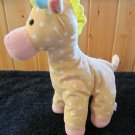 King Plush Yellow Giraffe with White Polka Dots