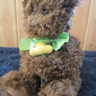 Russ Berrie Brown Plush Bear named Daisy holding flower