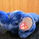 Ty Beanie Buddy Royal Blue Plush Elephant named Peanut Mint tags