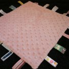 Baby Wall Street Pink Minky Dot Security Blanket with colorful Taggies