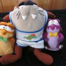 Looney Tunes Taz Plush Figure and two Friends McDonald toys