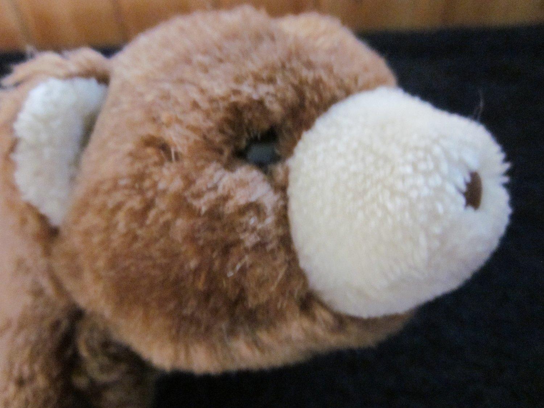"1980 Gund 7"" Brown and Cream snuffles Teddy Bear brown nose black eyes"