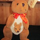 Teddy and Friends Plush Kangaroo and baby from Australia Named Hoppy