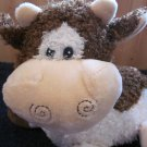 It's all Greek To Me Plush Brown and White Cow