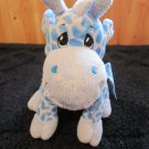 The Petting Zoo Blue Giraffe Plush Rattle Toy