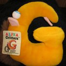 Special Effects Alpha Critters 'G' Named Geet plush 1986 Plush Alphabet Letter