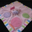 Miss Matched Pink Monkey Security Blanket Plush Lovey circles