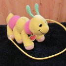 1997 Tuggles Plush caterpillar  with tags and leash Pull along Toy