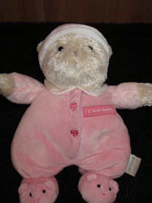 Carters I Love Mommy Bear in Slippers Plush Rattle