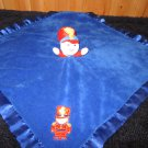Blankets & Beyond Blue Security blanket with Red Toy Soldier