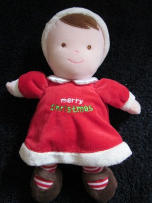 Just ONe year Carters Merry Christmas Plush Doll Red dress