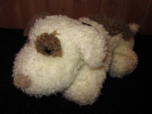 Little Me Plush Puppy Dog White Brown #2899 Prestige Toy Co
