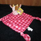 Russ Kids Bright Beginnings Comfy Blankies Plush Cow named Jingles Red Security Blanket