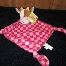 Russ Kids Bright Beginnings Comfy Blankies Plush Cow named Jingles Red Security Blanket