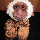 Aurora Plush Brown Monkey with White fur around face