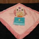 Tiddliwinks Pink Owl snuggle Security Blanket Lovey