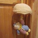 Kids of America Corp Clown Musical Crib Toy Yellow Umbrella