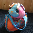 Doodle Pets Pink Blue Eyed Kitty Cat with Carrier