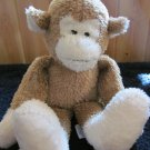 The Boyds Collection 2001 Plush Brown Monkey Cream face feet Plush Rattle