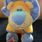 "Dakin Plush Yellow Orange Lion Blue Mane 13"" head to toe"