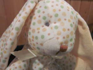Stephan Baby Polka Dot Plush Bunny Rabbit  Floppy Style