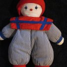 Pier 1 Imports Plush Doll Red White Blue Clown