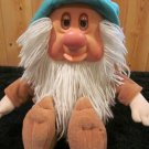 Vintage  Mattel 1983 Plush Dwarf named Sleepy eyes open close and he snores