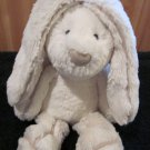 "JellyCat 12"" Super soft Bunny Rabbit creamy white Plush suede trim"