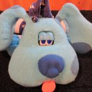 Tyco 1999 Blues Clues Plush Dog Goodnight Blue talking animated