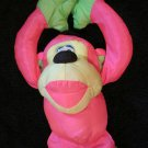 Vintage Fisher Price puffalump style Pink and yellow Monkey