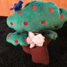 1998 Crib Notes Plush Apple Tree with Baby Musical Crib Toy Plays Rock-a-bye-baby