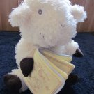 Beautiful Plush Lamb by Dayspring Hallmark holding a Book