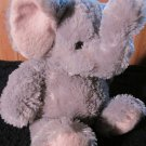 KellyToy Plush Grey Elephant with Pink accents Floppy Style