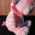 KellyToy Kellybaby Plush White Tiger with Pink stripes