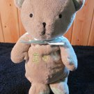 Just one Year by Carter's Tan Plush Teddy Bear Musical Crib Toy Plush Lovey