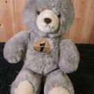Animal Fair Grey Plush Bear Vintage