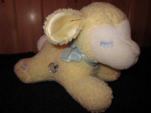Eden Musical Plush pale Yellow Lamb with Moving Head