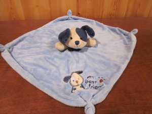 Carters Blue Puppy Dog Plush Lovey Security Blanket 'My Best Friend'