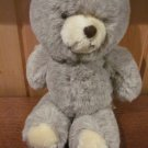 Animal Fair Grey Plush Bear Vintage Gray