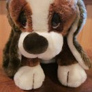 Russ Berrie Plush Brown White Dog #873 named Baxter Sad Sams friend