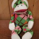 DanDee Plush Argyle Monkey Knit face and feet It squeaks