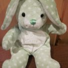 Walmart Green Bunny Rabbit White polka dots 'My First Easter' Plush Toy