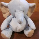 Carters Little layette Blue and Tan Elephant Plush Toy Lovey