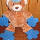 Bright Starts Kids II Plush Tan Bear All Star  Teether and Rattle
