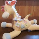 Amscan Plush Yellow Giraffe with polka dots and stars called Baby Dots