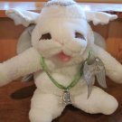 Baby Lamb Chop Sheri Lewis Plush Puppet with Angel Wings and store tags