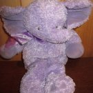 baby Gund Purple lavender Elephant Musical Crib toy Plush Lovey 58782 named Obie
