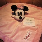 "Disney NWT Pink Plush Minnie Mouse Security Blanket Lovey ""Minnie"" on white tag"