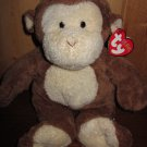 TY Pluffies Brown Monkey Named baby Dangles Plush Lovey with heart tag
